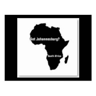 johanesburg south africa postcard