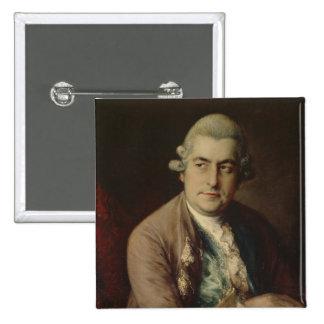 Johann Christian Bach, 1776 2 Inch Square Button