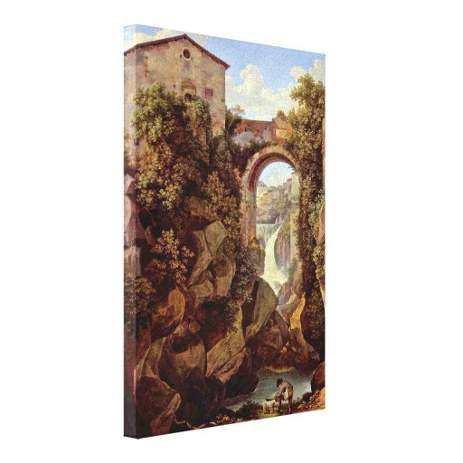 Johann Christian Reinhart - View of Tivoli Gallery Wrapped Canvas