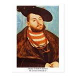 Johann Friedrich Elector By Lucas Cranach (I) Post Card