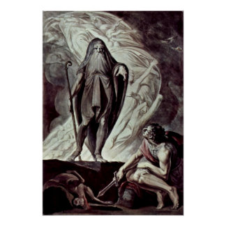 Johann Heinrich Fusel- Tiresias appears to Ulysses Poster