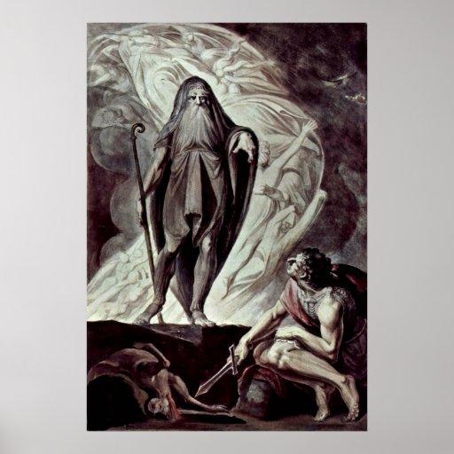 Johann Heinrich Fusel- Tiresias appears to Ulysses Print