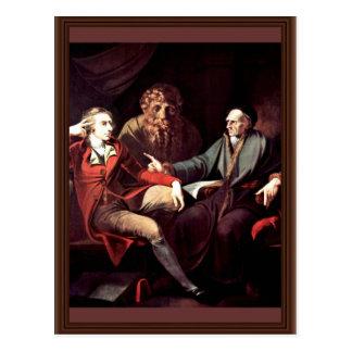 Johann Heinrich Fuseli Talking To The Zurich Histo Postcard