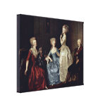 Johann Heinrich Wilhelm - Countess and family Canvas Prints
