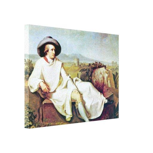 Johann Heinrich Wilhelm - Goethes portrait Gallery Wrap Canvas