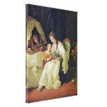 Johann Heinrich Wilhelm Tischbein - family scene Stretched Canvas Prints