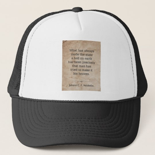 Johann Holderlin Trucker Hat