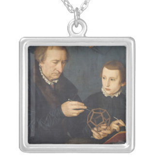 Johann I Neudorfer and his Son, 1561 Silver Plated Necklace