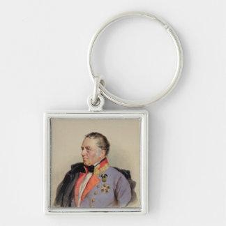 Johann Joseph Wenzel Silver-Colored Square Keychain