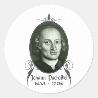 Johann Pachelbel Pegatina Redonda