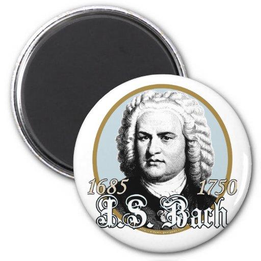 Johann Sebastian Bach 2 Inch Round Magnet