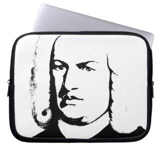 Johann Sebastian Bach abstractly - black and knows Laptop Sleeve
