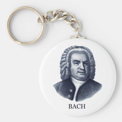 Johann Sebastian Bach, azul Llaveros