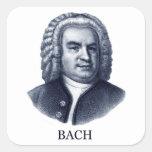 Johann Sebastian Bach, azul Colcomanias Cuadradas Personalizadas