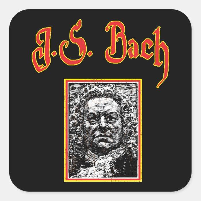Johann Sebastian Bach - Baroque Music Square Sticker