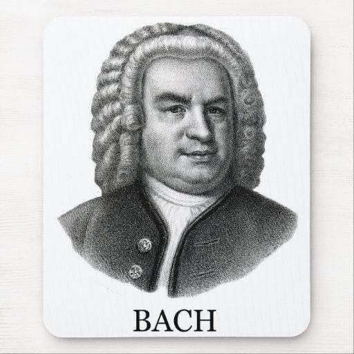 Johann Sebastian Bach, black Mouse Pad