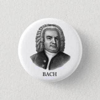 Johann Sebastian Bach, black Pinback Button