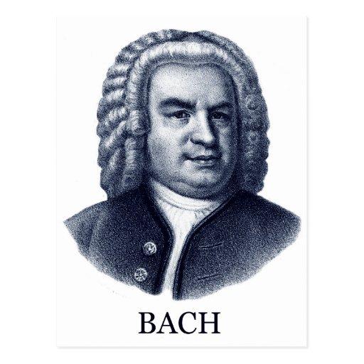 Johann Sebastian Bach, blue Postcard