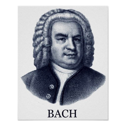 Johann Sebastian Bach, blue Print