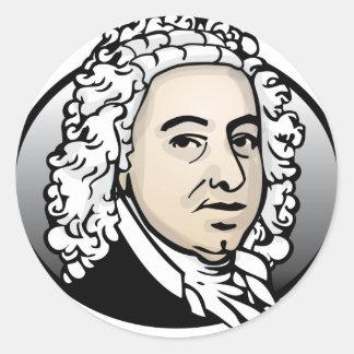 Johann Sebastian Bach Classic Round Sticker