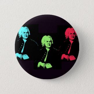 Johann Sebastian Bach Collage Button