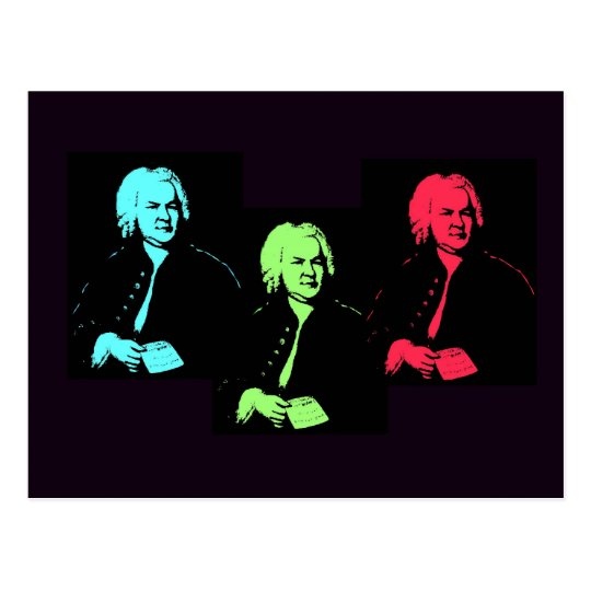 Johann Sebastian Bach Collage Postcard