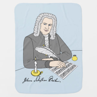 Johann Sebastian Bach drawn Receiving Blanket
