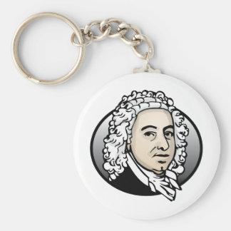 Johann Sebastian Bach Basic Round Button Keychain