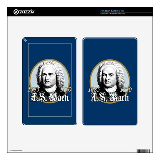 Johann Sebastian Bach Kindle Fire Skins