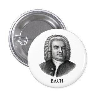Johann Sebastian Bach, negro Pin Redondo De 1 Pulgada