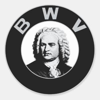 Johann Sebastian Bach Pegatina Redonda