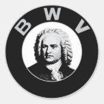 Johann Sebastian Bach Pegatinas Redondas