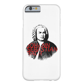 Johann Sebastian Bach portrait and red letters Barely There iPhone 6 Case