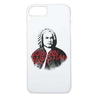 Johann Sebastian Bach portrait and red letters iPhone 8/7 Case