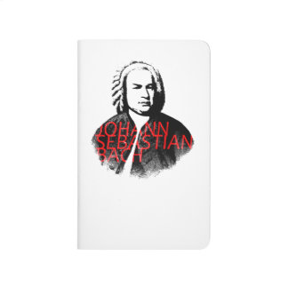 Johann Sebastian Bach portrait and red letters Journal