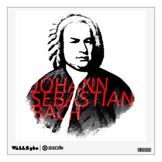 Johann Sebastian Bach portrait and red letters Wall Sticker