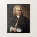 """Johann Sebastian Bach Portrait Jigsaw Puzzle<br><div class=""""desc"""">This is the famous portrait of the composer Johann Sebastian Bach.</div>"""
