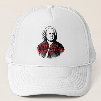Johann Sebastian Bach portrait with red letters Trucker Hat