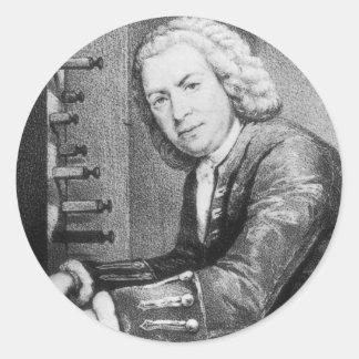 Johann Sebastian Bach Stuff Round Sticker