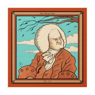 Johann Sebastian Bach Wood Canvas Print Wood Wall Art
