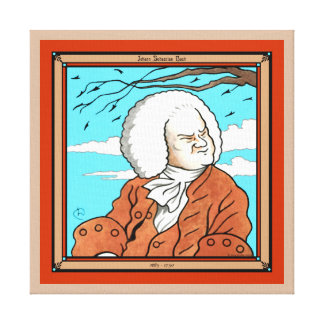 """Johann Sebastian Bach"" Wrapped Canvas Print"