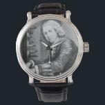 """Johann Sebatian Bach Watch<br><div class=""""desc"""">Johann Sebastian Bach Watch. Leather Band. Customizable.</div>"""