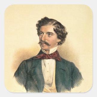 Johann Strauss the Elder Square Sticker