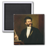 Johann Strauss the Younger, 1888 2 Inch Square Magnet