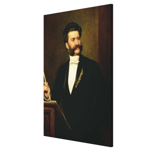Johann Strauss the Younger, 1888 Canvas Prints