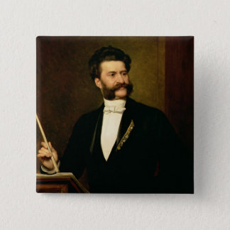 Johann Strauss the Younger, 1888 Pinback Button