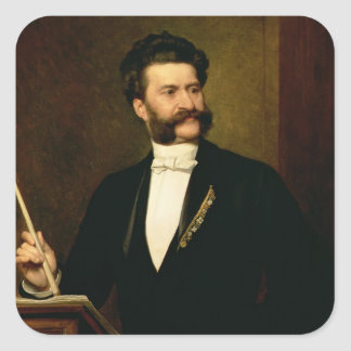 Johann Strauss the Younger, 1888 Square Sticker