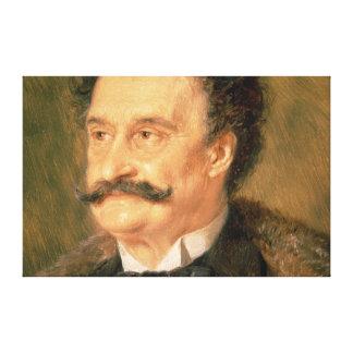 Johann Strauss the Younger, 1895 Canvas Print