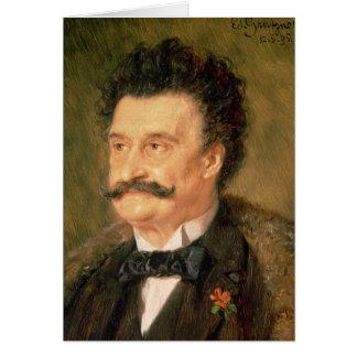 Johann Strauss the Younger, 1895 Card