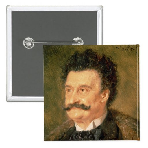 Johann Strauss the Younger, 1895 Pinback Button